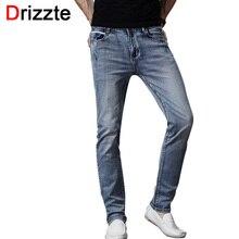 Drizzte Brand Mens Jeans Trendy Stretch Blue Grey Denim Men Slim Fit Jeans Trousers Pants Size