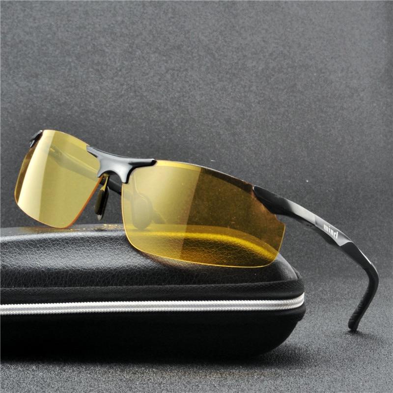 Box Mens Women Night Driving Glasses HD Anti Glare Vision Yellow Lens Glasses