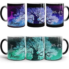 ФОТО Harry Porter Magic Mugs After  This Time Always Mysterious Purple Green Life Tree Fly Deer Color Changing Cups Creative s