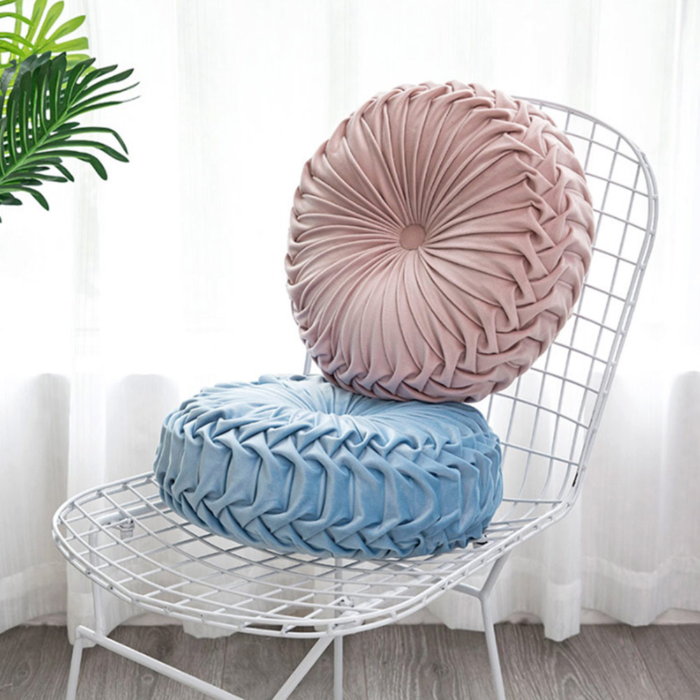 1 Pc Round Velvet Soft Pumpkin Seat Cushion Chair Mat Couch Home Sofa Decor Home Car Essential Decoration P7Ding