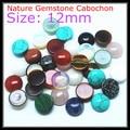 10 pcs/Lot Nature gem stone cabochon turquoise malachite opal sodalite carnelian yellow tiger eye onyx rings make accessories