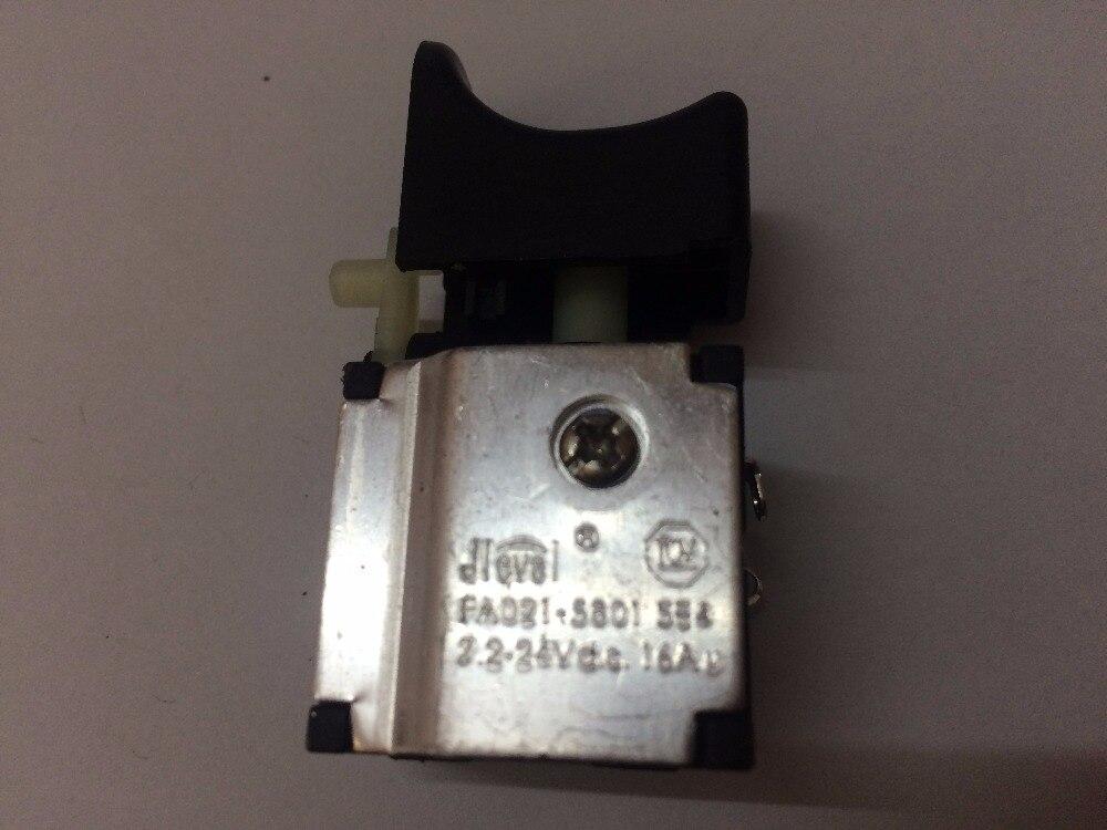 Jlevel FA021-5801 FA021-58 7.2-24 V FA021 16A DC perceuse électrique interrupteur électrique interrupteur visseuse