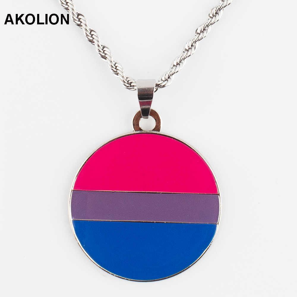 Collar de orgullo transgénero Bisexual pintalabios lesbiana Genderqueer collar recto