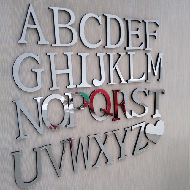 Mirror Letter Wall Sticker