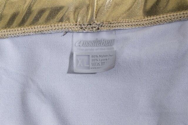 f11e608cbb Austinbem Swimsuit Men men\'s Swimming Trunks Metallic Gold Print ...