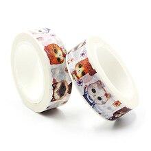 1 PCS New 15mm*10m Cat Language Washi Tape Children Like DIY Diary Decoration Masking Tape Stationery Scrapbooking Tools