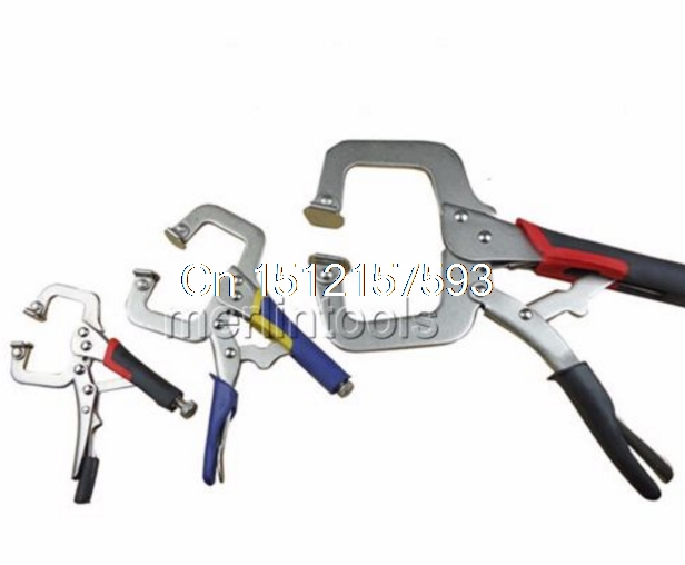 Select 5 6 11 Locking Vise Grip Welding Clamp C-Clamp Sheet Metal Clamp Plier 5 inch welding tool straight jaw locking locking mole plier vice grips pliers