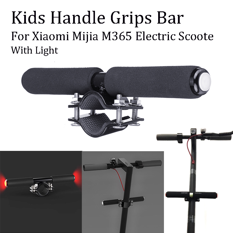 Children s Handrails Pole Riding Bicycle Handlebars Child Kid Handle Grips  Bar With Light For Xiaomi Mijia M365 Electric Scooter