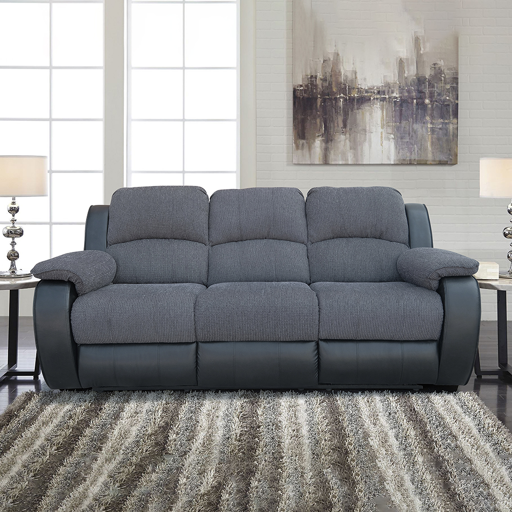 Chair Recliner-Sofa-Chair Living-Room Lounger Upholstered Graphite-Fabric Adjustable