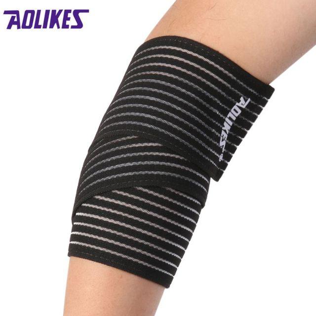 Aolikes poignet support genou protection ceinture élastique sport bandage  wrap brace bande bandage coude pad longueur e99d26e4de1