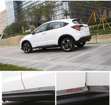 High Quality Chromed RED LETTER Side Door Molding Trim For Honda Vezel HR-V 2014 2015