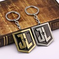 The Super Hero Justice League keychains JK logo key ring Superhero Figure Keychain for men's gift