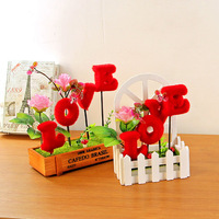 Caioffer Home Decoration Accessories Artificial Flowers Cheap Wedding Party Decoration Mariage Garden Fake Plastic Flower CXD05