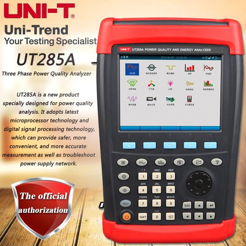 Three UT285A Трехфазный Анализатор качества электроэнергии, ручной анализатор мощности