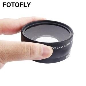 Image 2 - 0.45X46 49 52 55 58mm szeroki kąt obiektywu z makro soczewki ze szkła optycznego dla Canon Nikon pentax akcesoria do obiektywów o wysokiej rozdzielczości