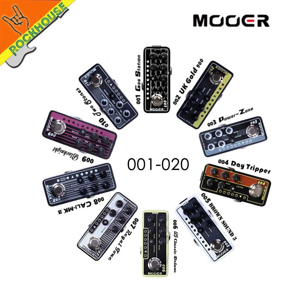 Mooer Micro Preamp Vintage Amplifier Simulator Guitar Effects Pedal Marshall MESA VOX Amplifier ToneKing AMP simulator