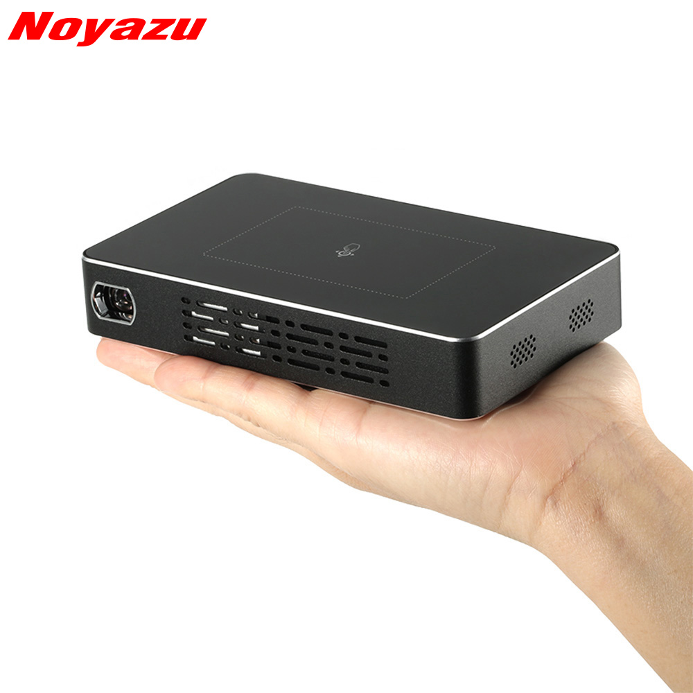 NoayzuD09 Projector Mini Android DLP Dual WiFi Smartphone 1200 Lumen Pico Film Projecteur with Touch Key