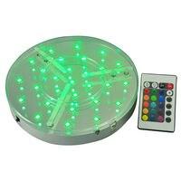 30 шт./лот День рождения украшения дома яркий изменять цвета RGB LED центральные свет базы под столом освещения с дистанционным