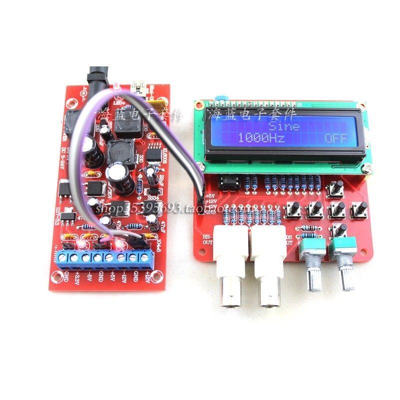 AVR DDS Function Signal Generator Module Sine / Triangle / Square Wave + power dc 5 24v Boost 12v 5v 3.3v