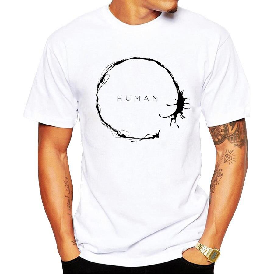 Shirts human design - New Summer Human Design T Shirt Short Sleeve Hipster Tops Cartoon Flower Printed T Shirts