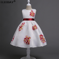 High Quality Girl Princess Dress Big Girl Long Vestido Children Pageant Flower Girl Dress For Wedding
