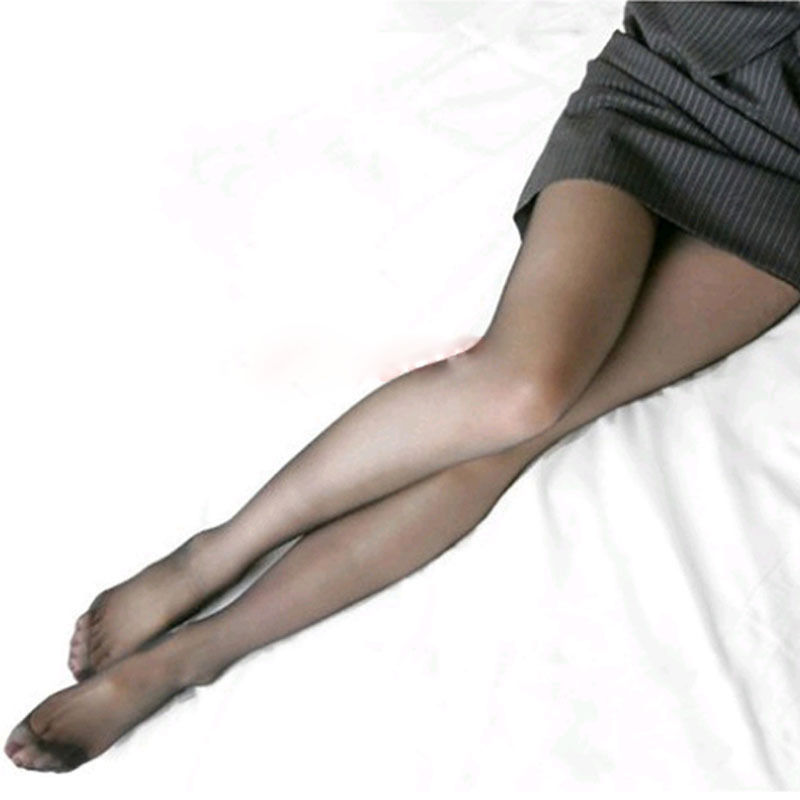 Sexy sheer women in black pantyhose