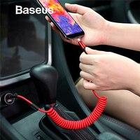 Baseus выдвижной пружинный кабель usb type C для huawei Xiaomi Mix 3 One Plus 6 t 6 5 Быстрая зарядка USB C type-c зарядные кабели