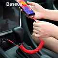 Baseus Retractable Spring USB Type C Cable Fast Charging USB C Type-c Charger For Xiaomi mi 9 8 Samsung S10 S9 USB-C Data Cable