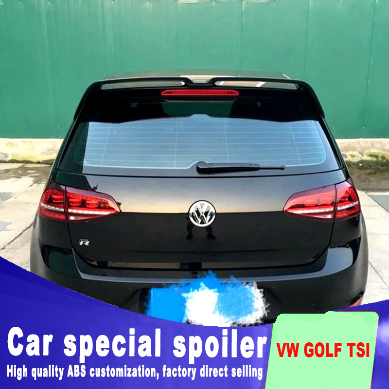 2013 to 2017 for Volkswagen VW Golf 7 MK7 Spoiler rear window roof spoiler VW Golf Rear Spoiler For Volkswagen Golf 7 MK7 in Spoilers Wings from Automobiles Motorcycles