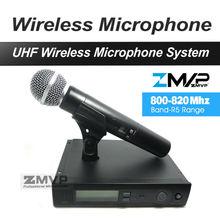 Envío Libre de dhl FEDEX a EE. UU. EUR. UHF Inalámbrico de Mano Sistema de Micrófono Para Karaoke Vocal Partido de la Demostración Etapa