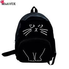 2018 Cat Printing Backpack Women Canvas School Bags For Teenager Girls Ladies Casual Cute Rucksack Mochila