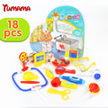 TUMAMA 12-18PCS Kids Doctor Medical Play Doctor Toys Set Carry Case Kit Baby Children Education Role Play Toy