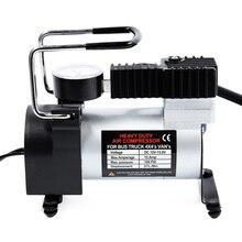 12 12vポータブルカー電動インフレータポンプ空気圧縮機 80PSI電気自動車自転車オートバイ用タイヤタイヤインフレータポンプ