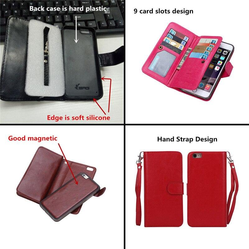 För iphone 6 6S 6 S Plus Fodral Lyxig plånbok Läder Flip Cover - Reservdelar och tillbehör för mobiltelefoner - Foto 2