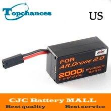 US High Quality 2000mAh 11 1V Powerful Li Polymer Battery For Parrot AR Drone2 0 Quadcopter