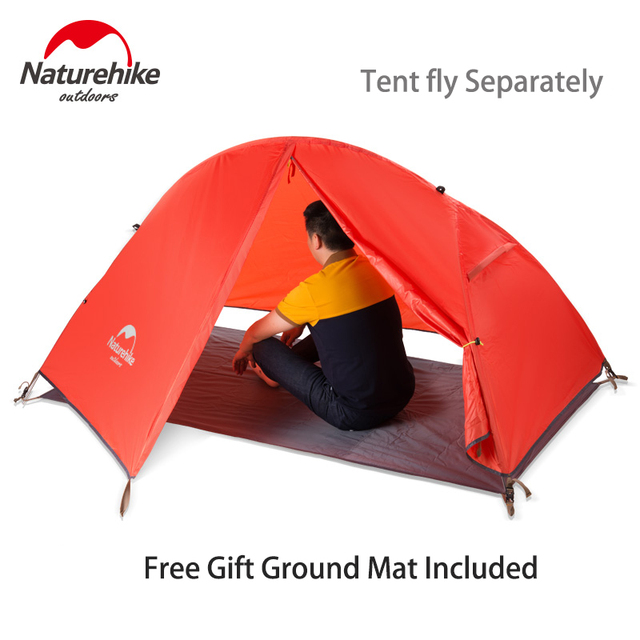 Naturehike Ultralight One Person Tent Single Cycling Camping Tent Waterproof Lightweight Portable Hiking 3 Season NH18A095-D