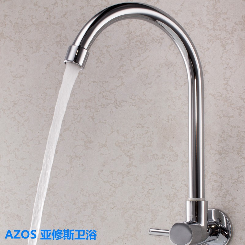 Modern Single Cold Water Hand Washing Brass Wall Mount Bathroom Kitchen Toilet laundry Vanity Sink Faucets