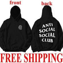 Unisex Anti Sozialen Social Club Mit Kapuze Langarm Hoodied Swaetshirt Kanye Sweatshirts AntiSocial Social Club Plus Größe 3XL