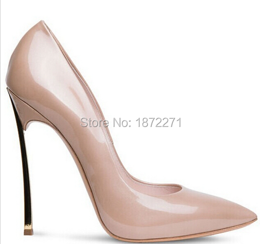 Real picture Hot selling brand wedding party dress shoes pointed toe metal high heels pumps fashion nude party stiletto heels padegao fashion women shoes 2017 high heels wedding party dress shoes light gold mesh cloth shoes pointed toe pumps
