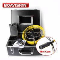 20M 30M Cable Fiber Glass 7 Inch LCD Waterproof IP68 Pipe Sewer Inspection Camera Color 1000TVL