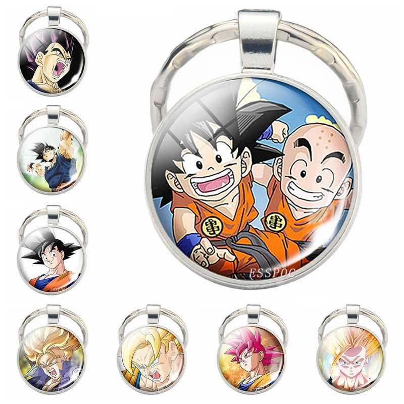 Anime Móc Khóa Rồng Bóng Ảnh Kính Cabochon Móc Khóa Dragon Ball Z Tình Nhân Tặng Thời Trang Anime Tặng Đồng Hồ Nam