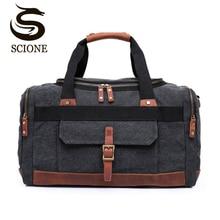 Купить с кэшбэком Mens Travel Bags Canvas High Capacity Travel Duffel Bags Luggage Handbag for Men Male Casual Shoulder Bag Tote Hand Luggage