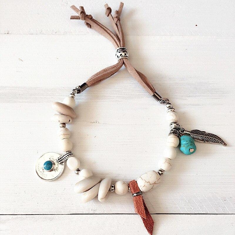 Dongmu Jewllery New 2017 Handmade Strand Bracelets Elastic Shell Bracelet For Women Trendy Beaded Bracelet Charm Bracelets