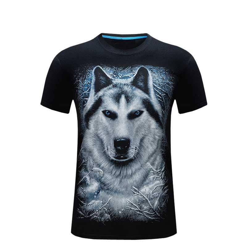 Sommer mænd hvid t-shirt løve trykt 3d tshirt homme casual hipster - Herretøj - Foto 4