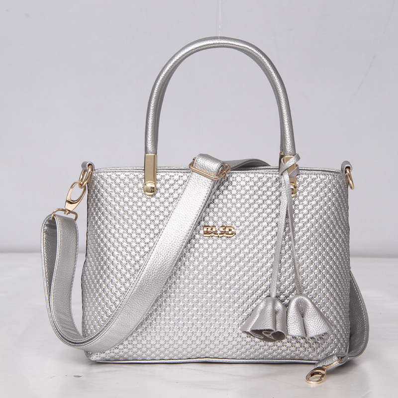 ФОТО 2017 Popular Fashion Elegant Women's Boston Handbags Saffiano Handbags& Crossbody Bags High Quality Messenger Bags Silver ST9227