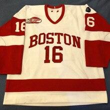 c52e5db60 BONJEAN Rare Vintage Boston University Kevin Gilroy Hockey Jersey  Embroidery Stitched
