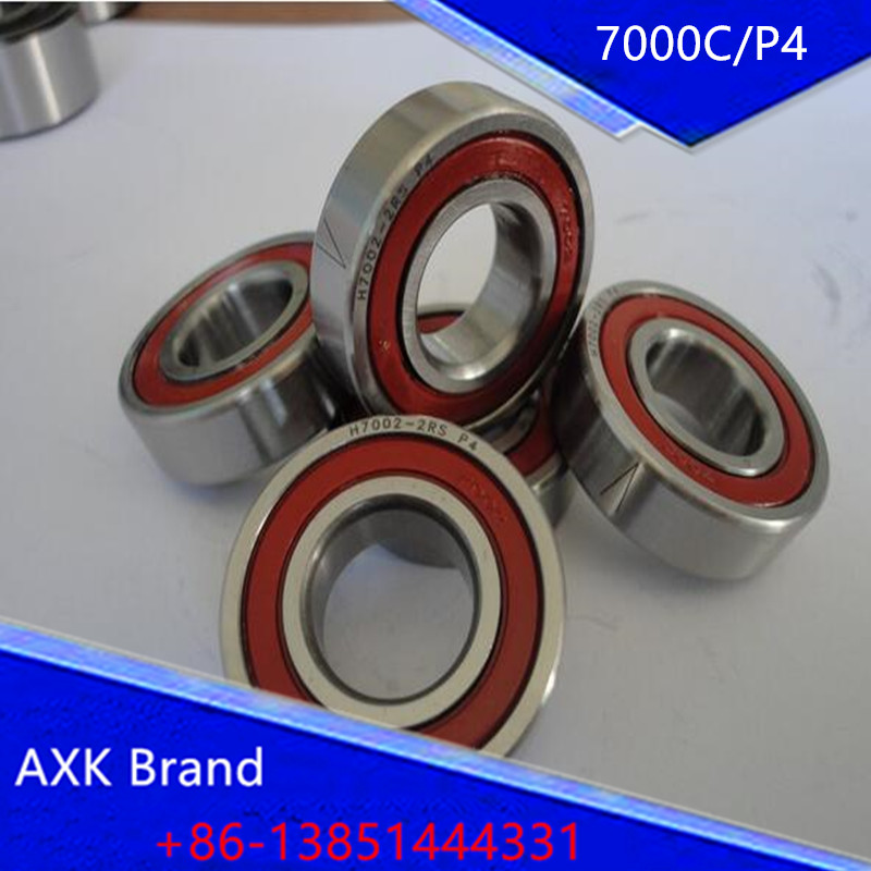 AXK precision high-speed spindle bearings 7000C/P4 7000 10mmX26mmX8mm ABEC 7 1pcs 71901 71901cd p4 7901 12x24x6 mochu thin walled miniature angular contact bearings speed spindle bearings cnc abec 7