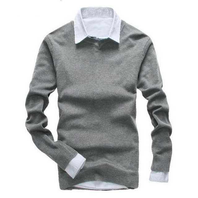 2016 men's fashion leisure pure cotton v-neck knitting a sweater/Men's slim fit v-neck Set head knit shirt /Men Set head sweater