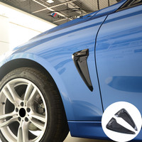 TPU Car Front Fender Side Air Vent Cover Trim Shark Gills Side Vent Sticker For BMW
