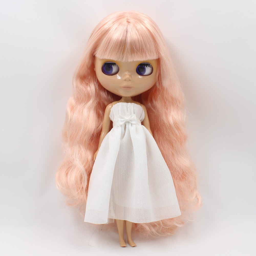factory blyth doll bjd tan skin normal body golden pink hair tan skin with bangs/fringes 1/6 30cm BL10100519 автозагар james read маска self tan express glow mask tan body объем 200 мл